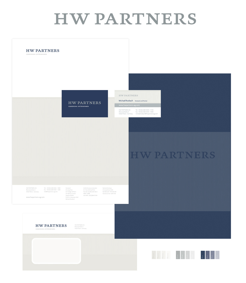 HW PARTNERS / Corporate Design, Typedesign