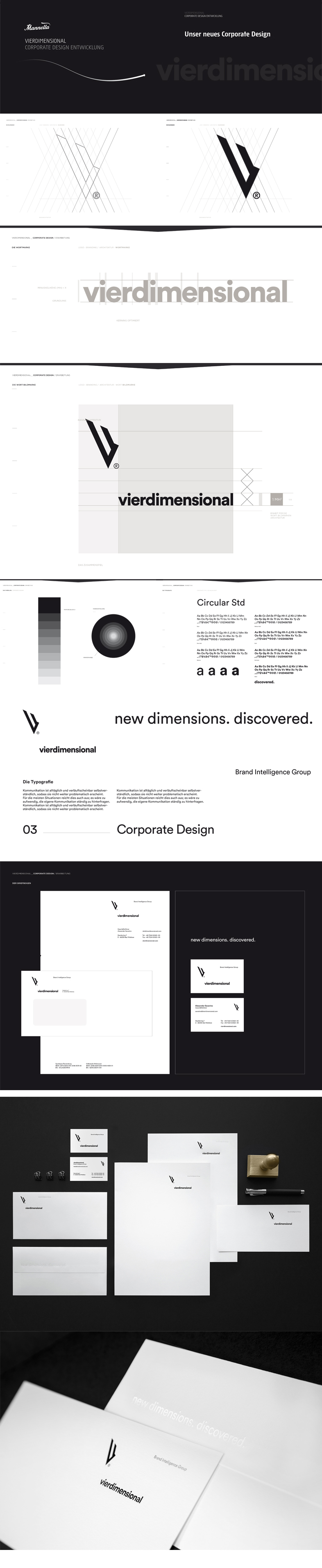 vierdimensional – Corporate Design (German Design Award 2019)